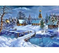 Вышивка стразами Зимняя сказка 30 х 40 см (арт. FS662)