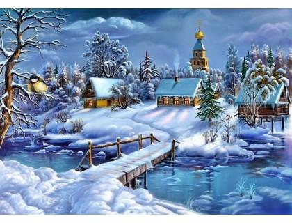 Купить Вышивка стразами Зимняя сказка 30 х 40 см (арт. FS662)