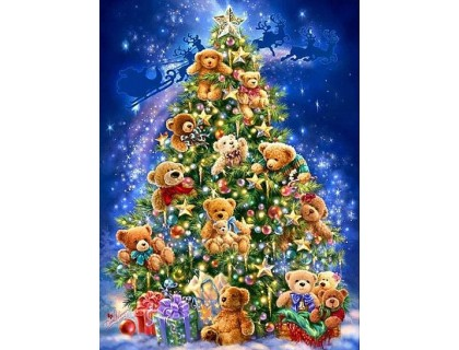 Купить Алмазная вышивка квадратные камни Рождество приходит 40 х 30 см (арт. FS681)