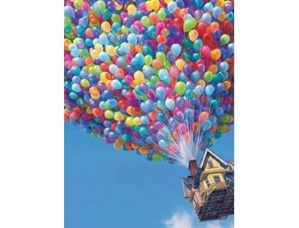 Купить DIY Алмазная вышивка 40 х 30 см на подрамнике Полет на воздушных шарах (арт. TN068)