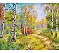 DIY Алмазная мозаика 40 х 50 см на подрамнике Осенняя красота леса (арт. TN298)
