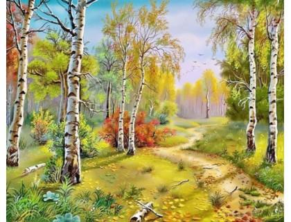 Купить Алмазная мозаика 40 х 50 см на подрамнике Осенняя красота леса (арт. TN298)