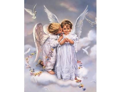 Купить Алмазная вышивка квадратные камни Благословение небес 40 х 40 см (арт. FS760)