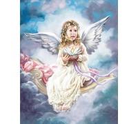 Алмазная мозаика Ангелок на небесах 40 х 50 см (арт. FS810)