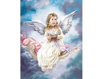 Купить Алмазная мозаика Ангелок на небесах 40 х 50 см (арт. FS810)