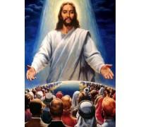 Алмазная вышивка 50 х 40 см Иисус Христос охраняет нас (арт. FS900) квадратные камни