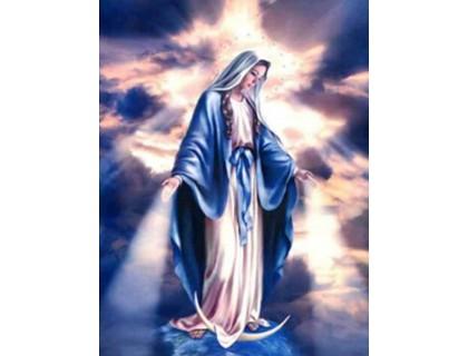 Купить Алмазная вышивка квадратные камни Дева Мария на небесах 50 х 40 см (арт. FS901)