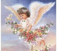 Алмазная мозаика MyArt Ангел с небес 40 х 40 см (арт. FS800) полная выкладка