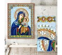 Мозаика стразами 5D Дева Мария 34 х 24 см (арт. PR1200)