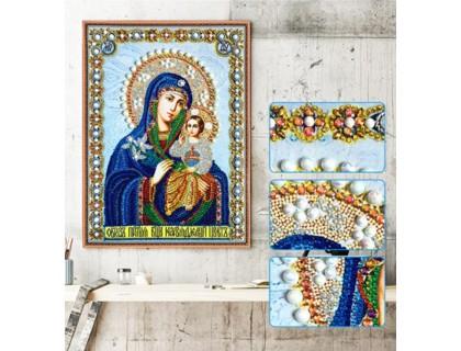 Купить Мозаика стразами 5D Дева Мария 34 х 24 см (арт. PR1200)