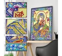 Алмазная мозаика 5D Святая Богородица 34 х 24 см (арт. PR1204)