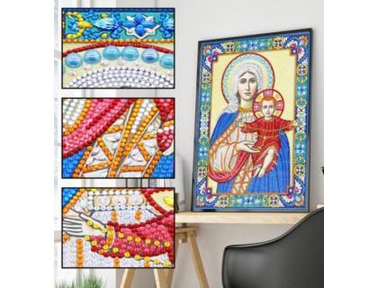 Купить Алмазная мозаика 5D Богородица и дитя 34 х 24 см (арт. PR1206)