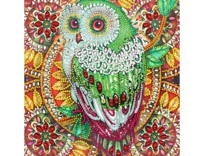 Купить Алмазная мозаика 5D Яркая сова 24 х 24 см (арт. PR1213)