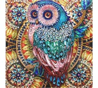 Алмазная мозаика 5D Ночная сова 24 х 24 см (арт. PR1215)