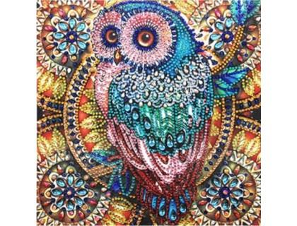 Купить Алмазная мозаика 5D Ночная сова 24 х 24 см (арт. PR1215)