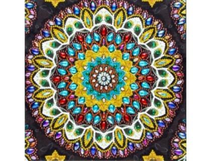 Купить Алмазная мозаика 5D Цветная мандала 24 х 24 см (арт. PR1217)