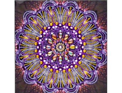 Купить Алмазная мозаика 5D Нежная мандала 24 х 24 см (арт. PR1218)