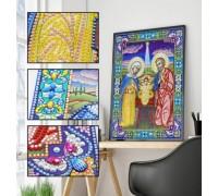 Алмазная мозаика 5D Святая ночь 34 х 24 см (арт. PR1221)