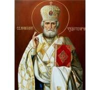 Алмазная вышивка Николай Чудотворец 34 х 24 см (арт. PR549)