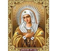 Алмазная мозаика частичная Образ Матери Божией 34 х 24 см (арт. PR551)