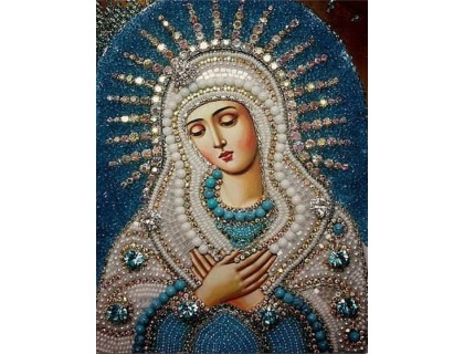 Купить Вышивка стразами Икона Девы Марии 34 х 24 см (арт. PR550)