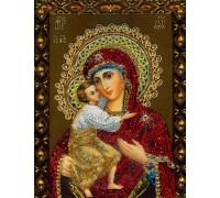 Алмазна вишивка Феодорівська Ікона 34 х 24 см (арт. PR555)