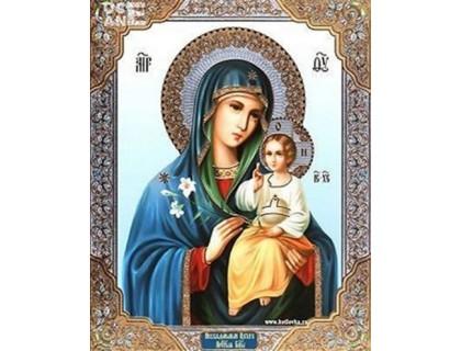 Купить Алмазная вышивка Мария с Иисусом Икона 34 х 24 см (арт. PR835)