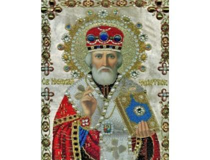 Купить Алмазна вишивка Микола Чудотворець Ікона 34 х 24 см (арт. PR832)