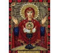 Вышивка стразами Икона Сад Девы Марии с сыном 34 х 24 см (арт. PR833)