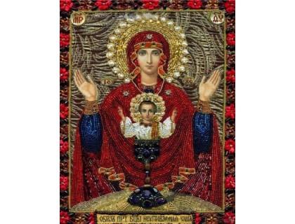 Купить Вышивка стразами Икона Сад Девы Марии с сыном 34 х 24 см (арт. PR833)
