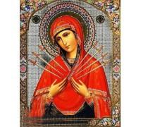 Алмазная вышивка Божией Матери икона 34 х 24 см (арт. PR722)