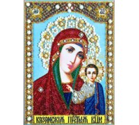 Мозаика стразами 5D Дева Мария с младенцем 34 х 24 см (арт. PR971)