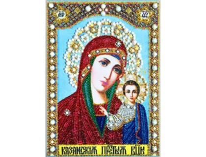 Купить Мозаика стразами 5D Дева Мария с младенцем 34 х 24 см (арт. PR971)