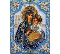 Алмазная вышивка 40 х 50 см на подрамнике Икона Дева Мария с Иисусом (арт. TN552)