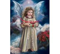 Алмазная вышивка 40 х 50 см на подрамнике Ангел хранитель с небес (арт. TN738)