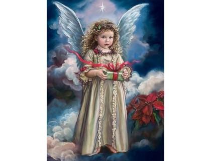 Купить Алмазная вышивка 40 х 50 см на подрамнике Ангел хранитель с небес (арт. TN738)