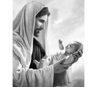 Алмазная вышивка на подрамнике 50 х 40 см Иисус Христос спаситель наш! (арт. TN897)