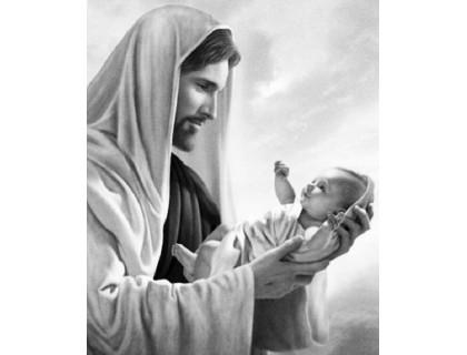 Купить Алмазная вышивка на подрамнике 50 х 40 см Иисус Христос спаситель наш! (арт. TN897)