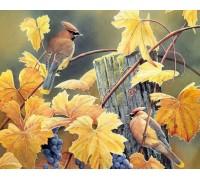 Алмазная выкладка Две птицы на лозе винограда 30 х 40 см (арт. FR096)