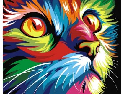 Купить Набор алмазной вышивки Радужный кот 40 х 30 см (арт. FR367)