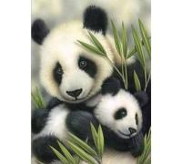 Алмазная вышивка Заботливые панды 30 х 40 см (арт. FR502)