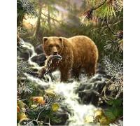 Алмазная вышивка Медведь на охоте 50 х 40 см (арт. FR525)