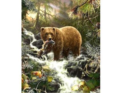 Купить Алмазная вышивка Медведь на охоте 50 х 40 см (арт. FR525)