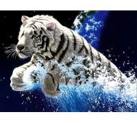 Алмазная вышивка Прыжок тигра 55 х 40 см (арт. FR688)