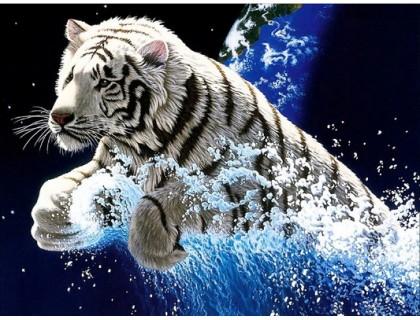 Купить Алмазная вышивка Прыжок тигра 55 х 40 см (арт. FR688)