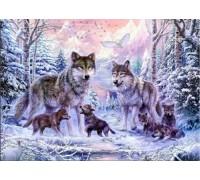 Набор алмазной вышивки Волки в лесу 45 х 30 см (арт. FS028)