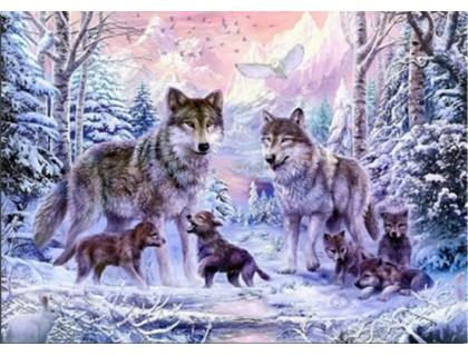 Купить Набор алмазной вышивки Волки в лесу 45 х 30 см (арт. FS028)