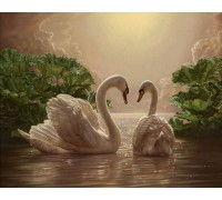 Набор алмазной вышивки Два лебедя 20 х 30 см (арт. FS031)