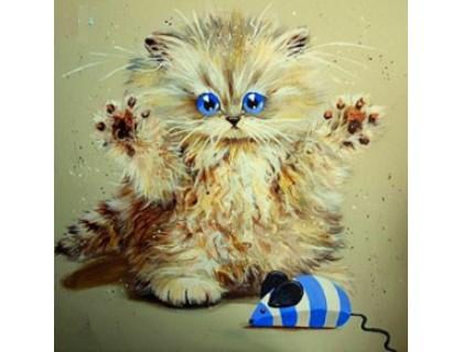 Купить Алмазная вышивка Озорной котенок 30 х 30 см (арт. FS109)