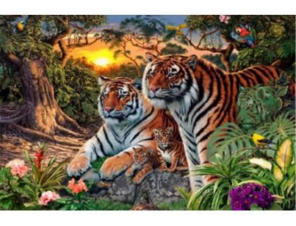 Купить Набор алмазной вышивки Два тигра 20 х 25 см (арт. FS186)